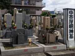 中茶屋明神墓地