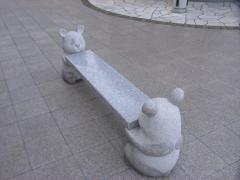 動物のデザインが愛くるしいベンチ