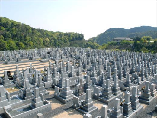 とにかく抜けが良く、平に整備された土地にお墓がずらりと並ぶ
