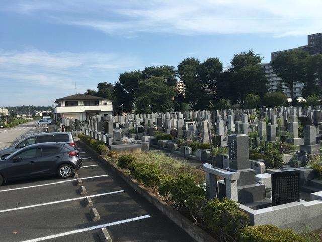 墓域からすぐの駐車場