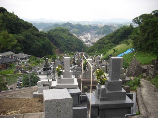 墓地中央からの景観