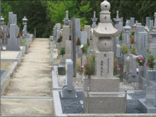 個性豊かな墓石の数々