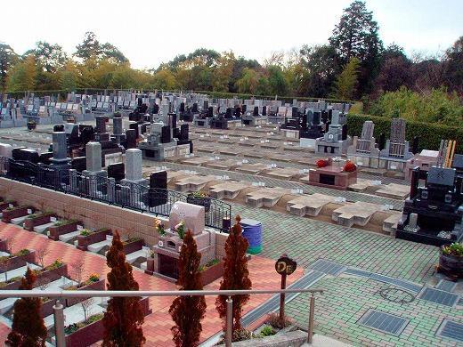 一番小さい墓所から緑地付き墓所まで、区画ごとにさまざまなタイプが見られる。