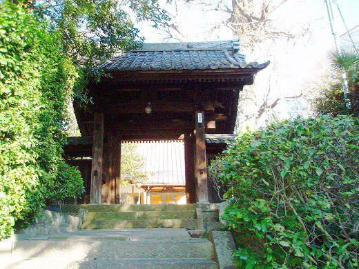 墓苑を管理している常倫寺の山門。
