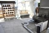 休憩所の奥の水汲み場。
