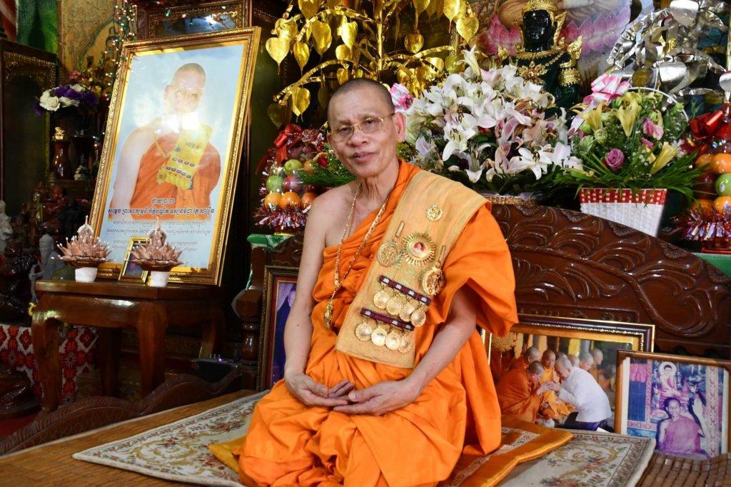 カンボジアで三番目の地位を持つ高僧