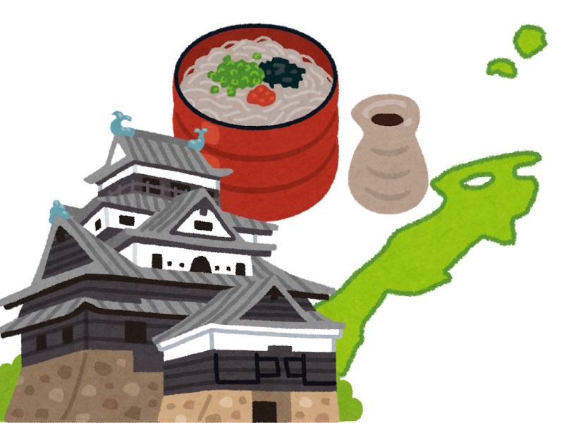 島根県の霊園・お墓を紹介するイメージイラスト