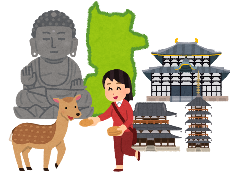奈良県の霊園・お墓を紹介するイメージイラスト
