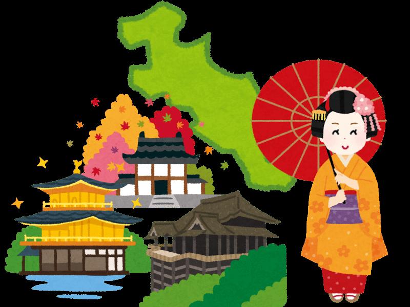 京都府の霊園・お墓を紹介するイメージイラスト